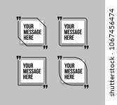 innovative set vector quotation ...   Shutterstock .eps vector #1067456474
