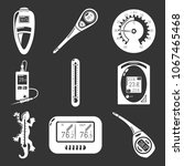 thermometer indicators icons... | Shutterstock .eps vector #1067465468