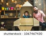 rocket launch concept. kid...   Shutterstock . vector #1067467430