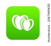 heart love icon green vector...
