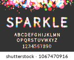 sparkle display font with... | Shutterstock .eps vector #1067470916