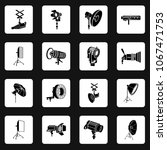 photography icons set in simple ... | Shutterstock .eps vector #1067471753