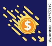 dollar symbol in flat design... | Shutterstock .eps vector #1067477960