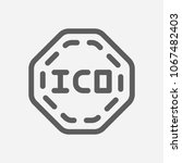 ico icon line symbol. isolated...