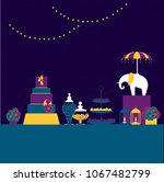 wedding candy bar  with...   Shutterstock .eps vector #1067482799