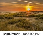 Windswept Sand Dunes During...