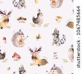 watercolor seamless pattern of... | Shutterstock . vector #1067485664