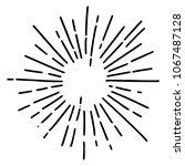 vintage sunburst explosion... | Shutterstock .eps vector #1067487128
