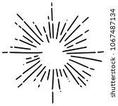 vintage sunburst explosion... | Shutterstock .eps vector #1067487134