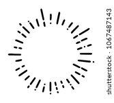 vintage sunburst explosion... | Shutterstock .eps vector #1067487143