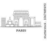 landscape city silhouette | Shutterstock .eps vector #1067489693