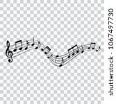 musical design element  music... | Shutterstock .eps vector #1067497730