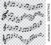 set of musical design elements  ...   Shutterstock .eps vector #1067497943