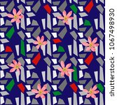 seamless pattern with beautiful ... | Shutterstock .eps vector #1067498930