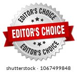 editor's choice round isolated... | Shutterstock .eps vector #1067499848