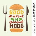 conceptual art of burger.... | Shutterstock .eps vector #1067503700