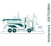 farm truck vehicle at city on... | Shutterstock .eps vector #1067510864