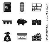 money abundance icons set....   Shutterstock .eps vector #1067514614