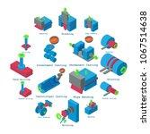 metalwork icons set. isometric... | Shutterstock .eps vector #1067514638