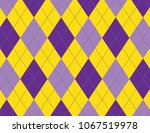 purple and yellow argyle... | Shutterstock .eps vector #1067519978