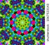 modern floral pattern. raster... | Shutterstock . vector #1067523143