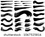set of brush stroke... | Shutterstock .eps vector #1067525816