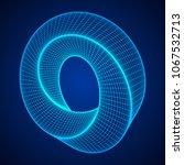 mobius strip ring sacred... | Shutterstock .eps vector #1067532713