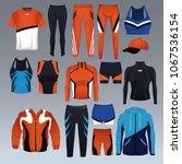 set of sport wear collection   Shutterstock .eps vector #1067536154