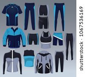 set of sport wear collection | Shutterstock .eps vector #1067536169