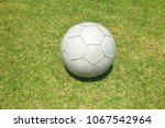a soccer ball in field for...   Shutterstock . vector #1067542964
