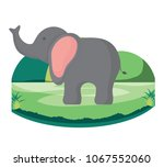 cute elephant icon | Shutterstock .eps vector #1067552060