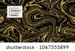 marble texture. luxury gold... | Shutterstock .eps vector #1067553899
