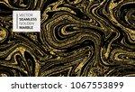 marble texture. luxury gold... | Shutterstock .eps vector #1067553899