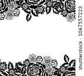 seamless monochrome pattern of... | Shutterstock .eps vector #1067557223