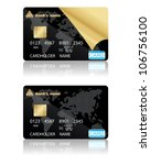two template for credit cards.... | Shutterstock .eps vector #106756100