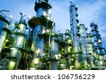 column tower in petrochemical... | Shutterstock . vector #106756229