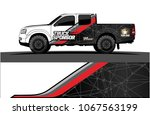 truck graphics. abstract curved ... | Shutterstock .eps vector #1067563199