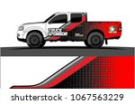 truck graphics. abstract curved ... | Shutterstock .eps vector #1067563229
