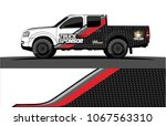 truck graphics. abstract curved ... | Shutterstock .eps vector #1067563310