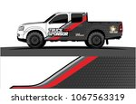 truck graphics. abstract curved ... | Shutterstock .eps vector #1067563319