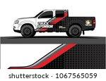 truck graphics vector. simple... | Shutterstock .eps vector #1067565059