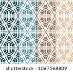 set of seamless geometric... | Shutterstock .eps vector #1067568809