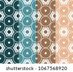 set of seamlset of seamless... | Shutterstock .eps vector #1067568920