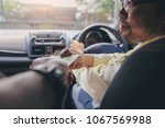 passengers pay service fees to... | Shutterstock . vector #1067569988
