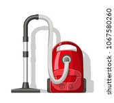 red vacuum cleaner. isolated on ... | Shutterstock .eps vector #1067580260