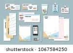 stationary branding template...   Shutterstock .eps vector #1067584250
