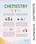 colorful chemistry template... | Shutterstock .eps vector #1067585078