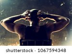 rear view of african descent...   Shutterstock . vector #1067594348