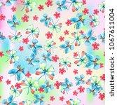 watercolor natural seamless... | Shutterstock . vector #1067611004