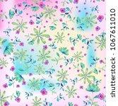 watercolor natural seamless... | Shutterstock . vector #1067611010